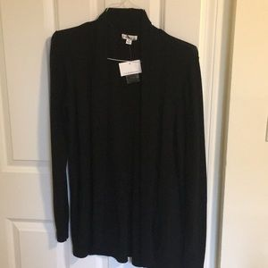 NWT Croft and Barrow Black Cardigan Size M